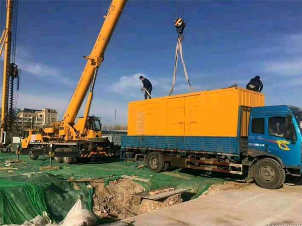 无锡万科工程建设租赁一台大型静音发电